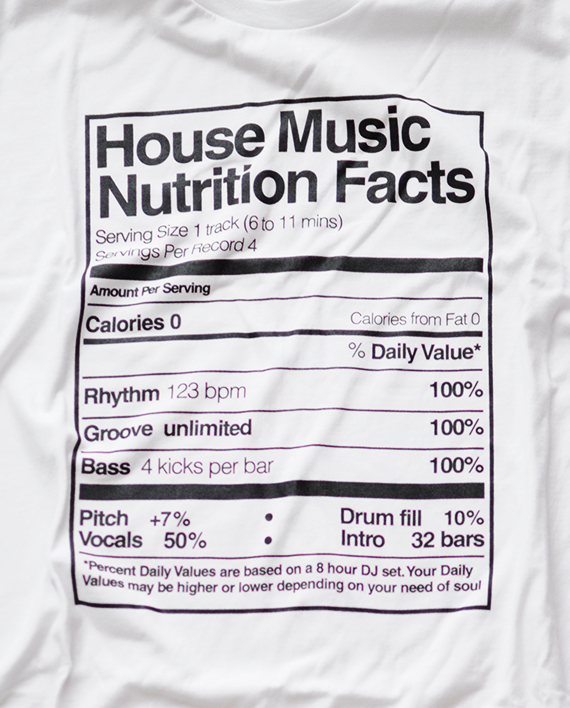 Playera house music nutrition facts black room for House music facts