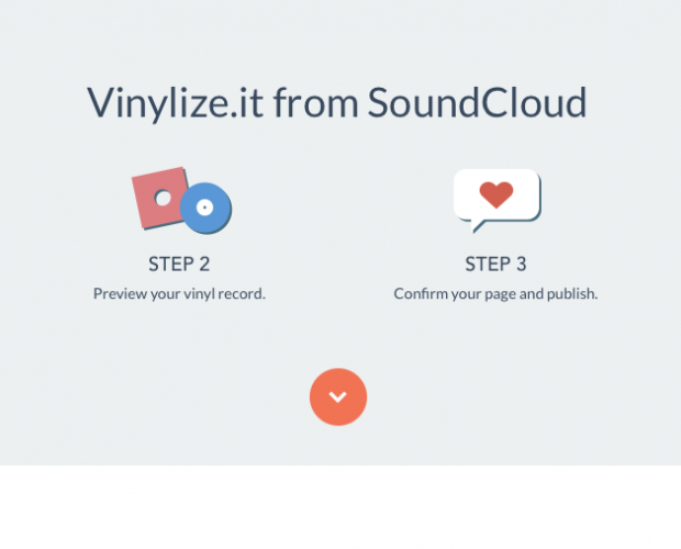 Vinylize it from soundcloud
