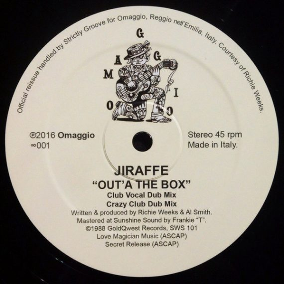 Jiraffe – Out'A The Box vinyl